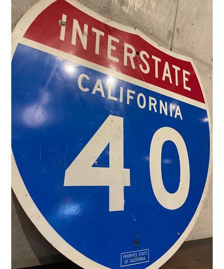 California Interstate 40 FWY ロードサイン