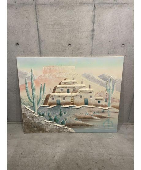 ヴィンテージ ランドスケープ ペンイント アート