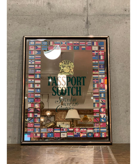 Passport Scotch ヴィンテージ パブミラー