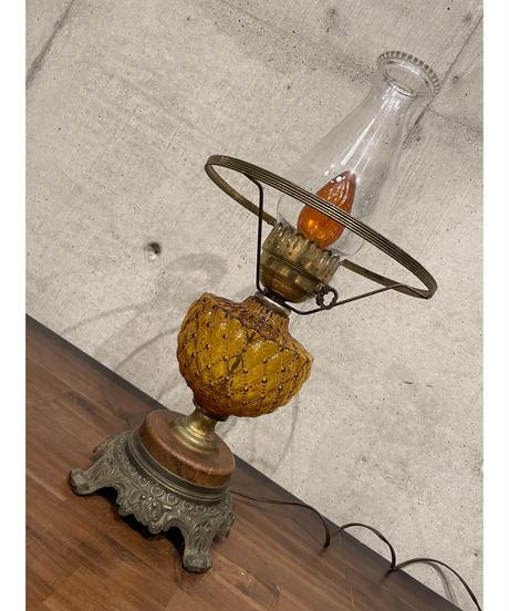 ヴィンテージ アンバーガラス テーブルランプ ②