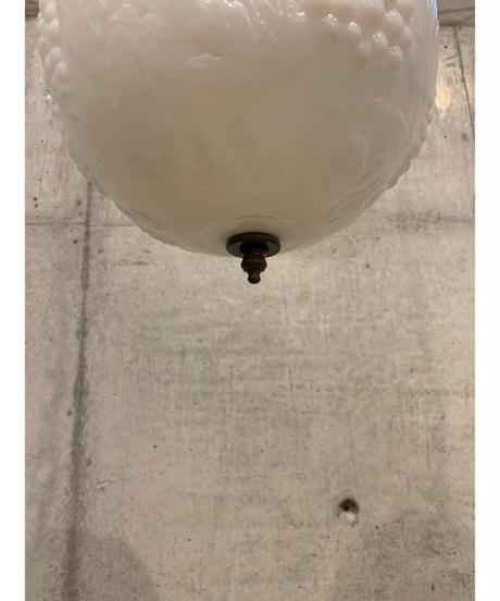 ヴィンテージ ミルクガラス ペンダントランプ