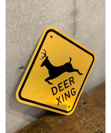 Deer Xing ロードメタルサイン