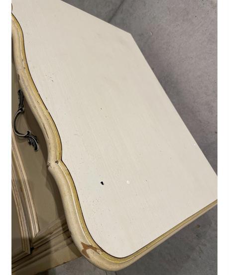 ヴィンテージ ミルクペイント ウッド サイドテーブル