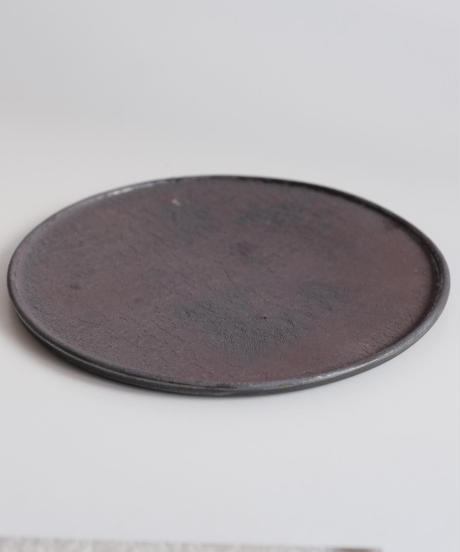 野口悦士 作 黒6寸平皿2