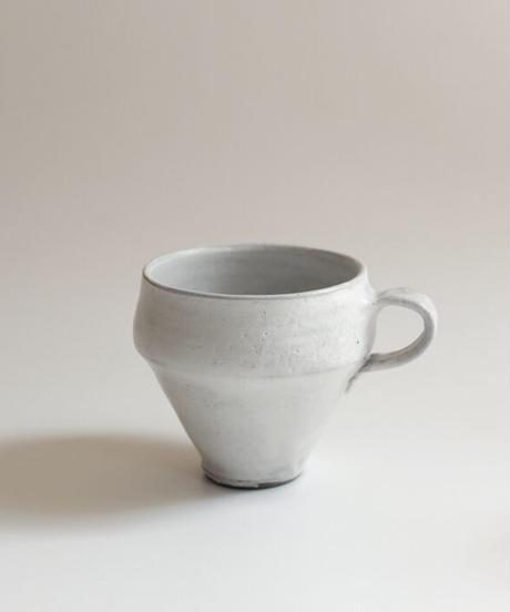 野口悦士 白釉マグカップ