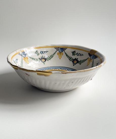 フランス色絵鳥の図鉢