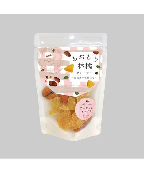 [和紙ラベル]あおもり林檎セミドライ アーモンドミックス