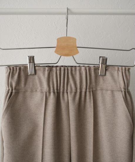 12月中旬入荷分 予約販売 bottoms-02088 ウールライク カットオフ スリム テーパード パンツ グレージュ