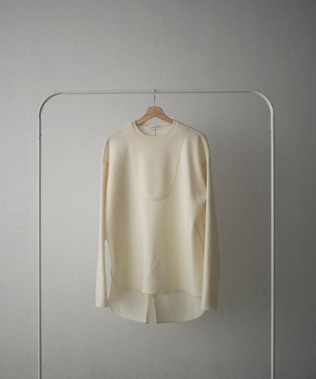 tops-04076 日本製  ドレスディティール プルオーバー アイボリー