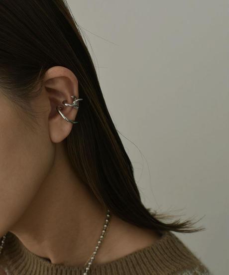 mb-earcuff-02023 クロス&カーブ イヤーカフ シルバー