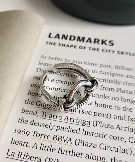 mb-ring2-02077 SV925 リング&ノットデザイン シルバー925