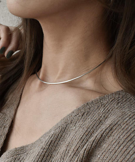 mb-necklace2-02022 SV925 ショート ネックカフ シルバー925