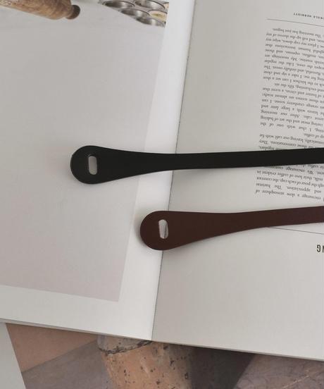mb-belt-02016 本革 細幅レザーベルト 結びベルト  ブラック ダークブラウン
