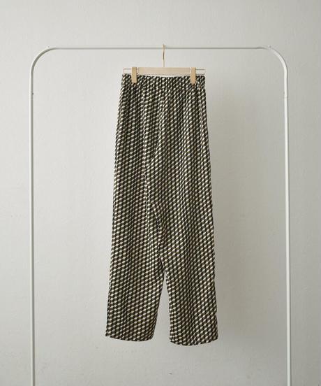 bottoms-04038 日本製 BLOCK PRINT リラックスラフパンツ