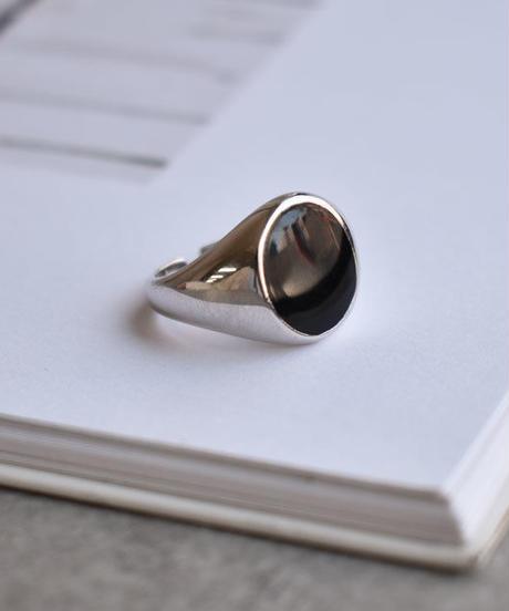 mb-ring2-02076 SV925 ブラックエポリング シルバー925