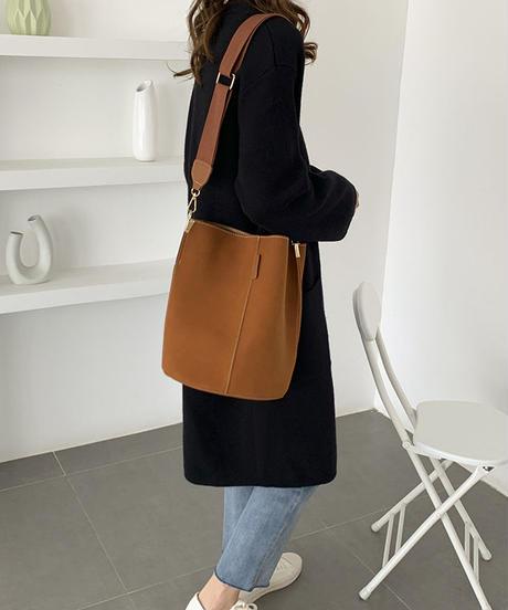 bag2-02482 エコレザー 2way  ショルダーバッグ グレー キャメル ブラック