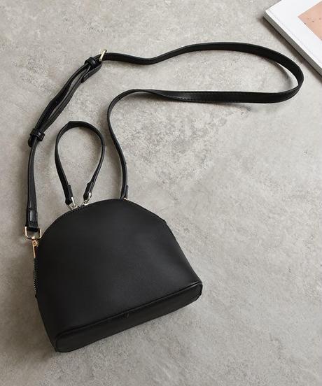 bag2-02416 フェイクレザー セミサークル ハンドバッグ ショルダーバッグ