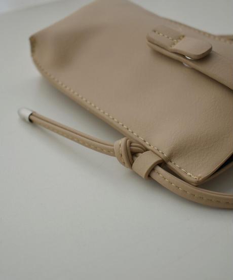 nh-bag2-02578 ミニショルダーポケットポーチ エクリュ ベージュ ブラック
