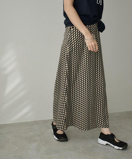 bottoms-04039 日本製 BLOCK PRINT ロングスカート