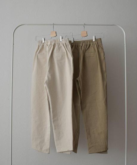 bottoms-02104 ステップドヘム デニムパンツ エクリュ モカベージュ