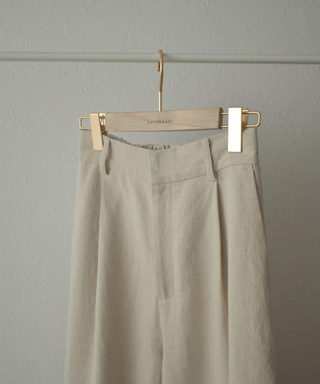 bottoms-07007 リネン混 コクーン パンツ