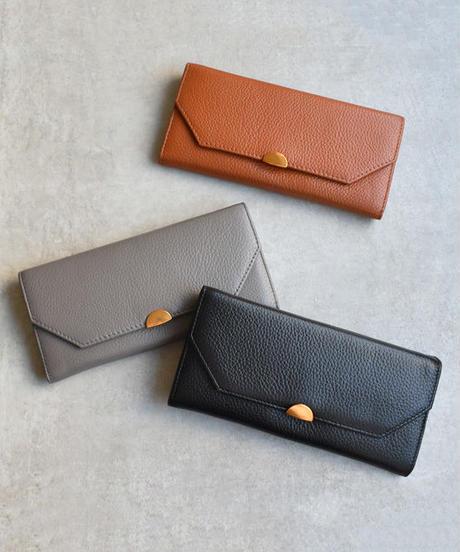 wallet-02065 本革レザー 長財布 小銭入れ付き