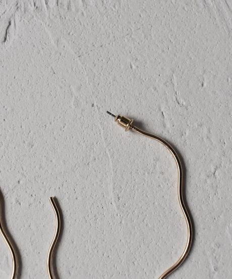 mb-pierce2-02428 ニュアンスカーブ ビッグフープピアス シルバー ゴールド
