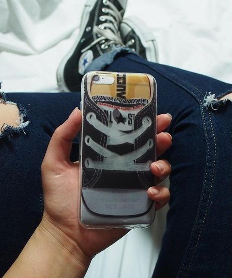 mb-iphone-02160 オールスター スニーカーデザイン クリア iPhoneケース