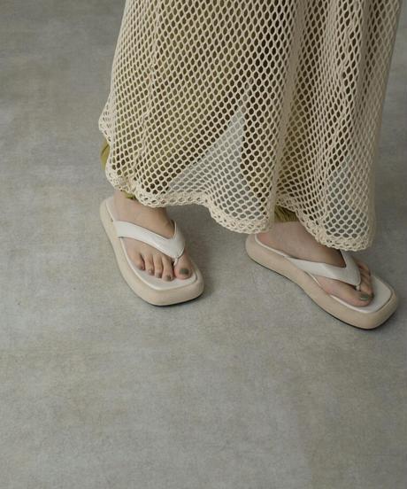 shoes-02137 プラットフォーム トングサンダル エクリュ モカ ブラック