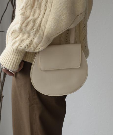 nh-bag2-02479 エコレザー ラウンドフラップバッグ ショルダーバッグ ウエストバッグ