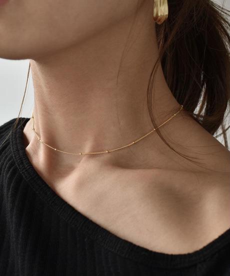 mb-necklace2-02029 SV925 ボールチェーンネックレス ゴールド シルバー925