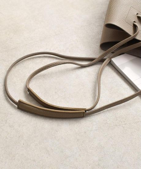 bag2-02552 エコレザーショルダートートバッグ グレージュ