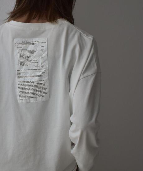 nh-tops-02183 worksheet ロングTシャツ ホワイト ブラック