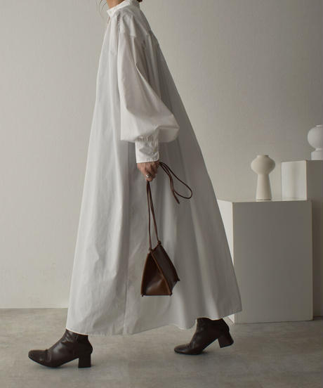 ホワイトのみ4月中旬入荷分 予約販売 onepiece-04043 日本製 ボリュームスリーブ カフタンドレス ホワイト ベージュ カーキ