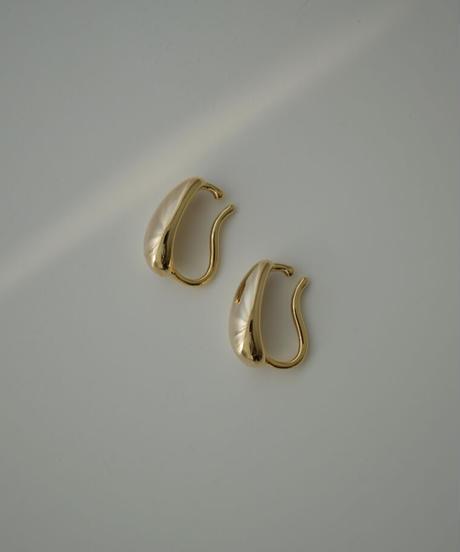 mb-earcuff-02027 ビッグドロップ イヤーカフ ゴールド