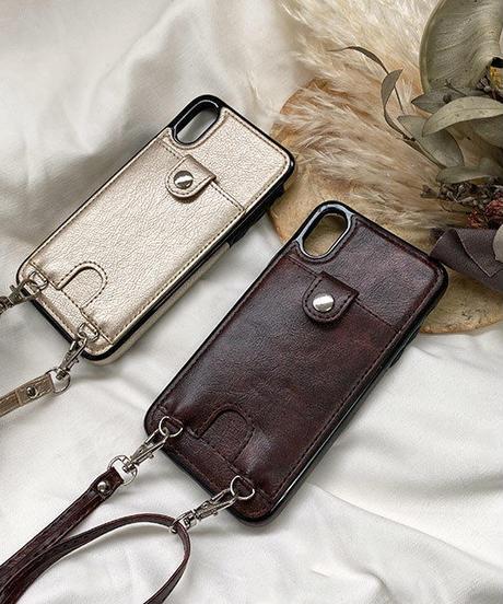 nh-iphone-02569 ショルダー付き カード収納 iPhoneケース