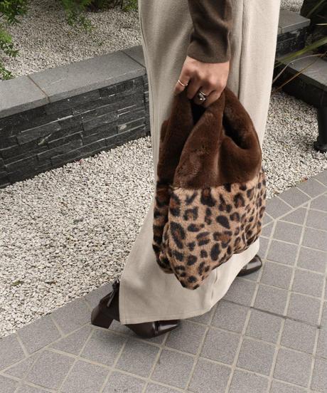 nh-bag2-02473 レオパード柄 エコファートートバッグ