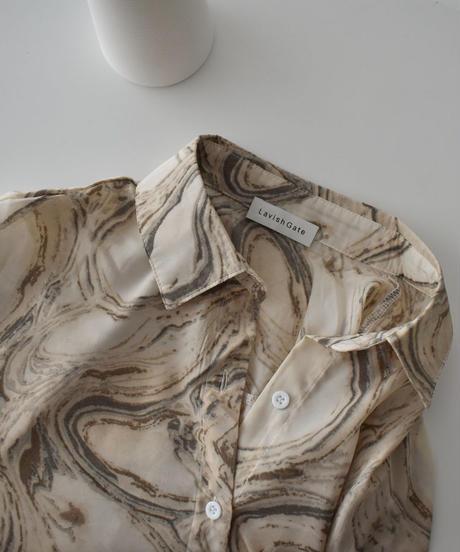nh-tops-02179 ニュアンスカラー マーブル シャツ