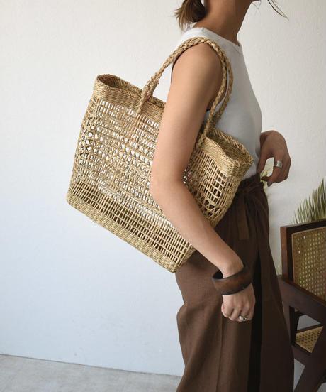 bag2-02512 透かし編み かごバッグ   B