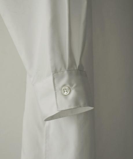 onepiece-04039 日本製 タックレイヤー シャツワンピース ホワイト