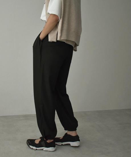 nh-bottoms-02126 裾ボタン リラックスパンツ グリーン ブラック