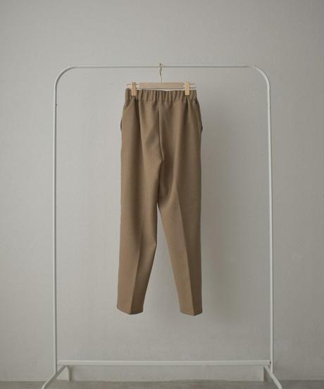 9月下旬~10月上旬入荷分 予約販売 bottoms-04048 日本製 ウール調サージ生地 タックテーパードパンツ