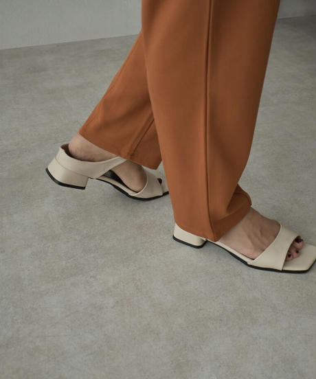 shoes-02136 エコレザー ベルト サンダル エクリュ ブラウン ブラック
