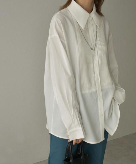 tops-02212  タックドレスシャツ オフホワイト ペールイエロー ライトグリーン