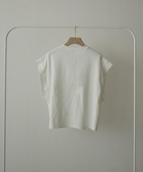 8月上旬から8月中旬入荷分 予約販売 nh-tops-02253 リラックス ノースリーブトップス ホワイト