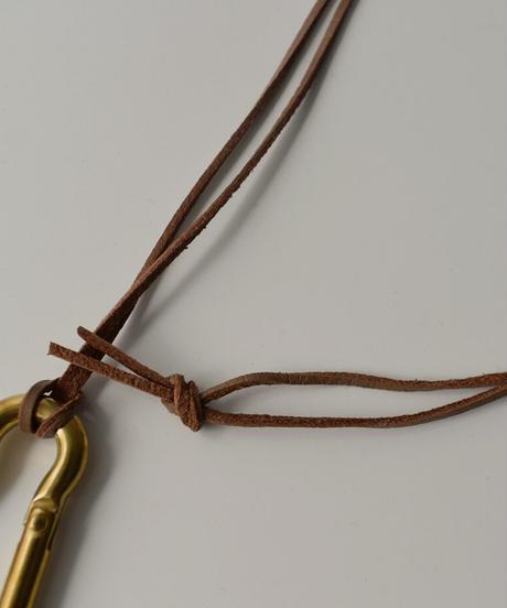 mb-necklace2-02045 真鍮フック レザーコード ロング ネックレス ☆WA04