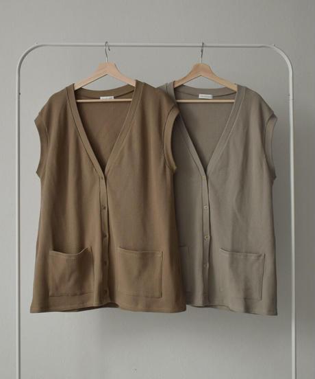 tops-04056 日本製 サーマルベスト グレージュ モカ