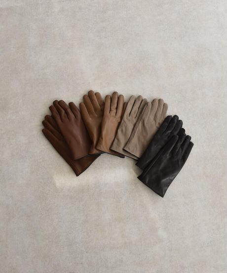 nh-gloves-02008 ラムレザー 手袋 グレージュ キャメル ブラウン ブラック
