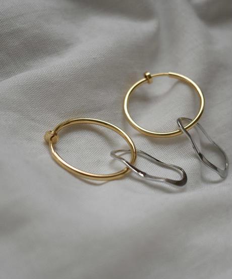 mb-earcuff-02008 リング&ベンドフレーム イヤーカフ ゴールド シルバー ☆WA04