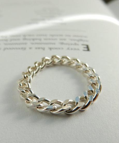 mb-ring-02102 SV925 シルバーチェーンリング 3mm幅 8号・10号・12号 金属アレルギー対応素材 ☆ WA04